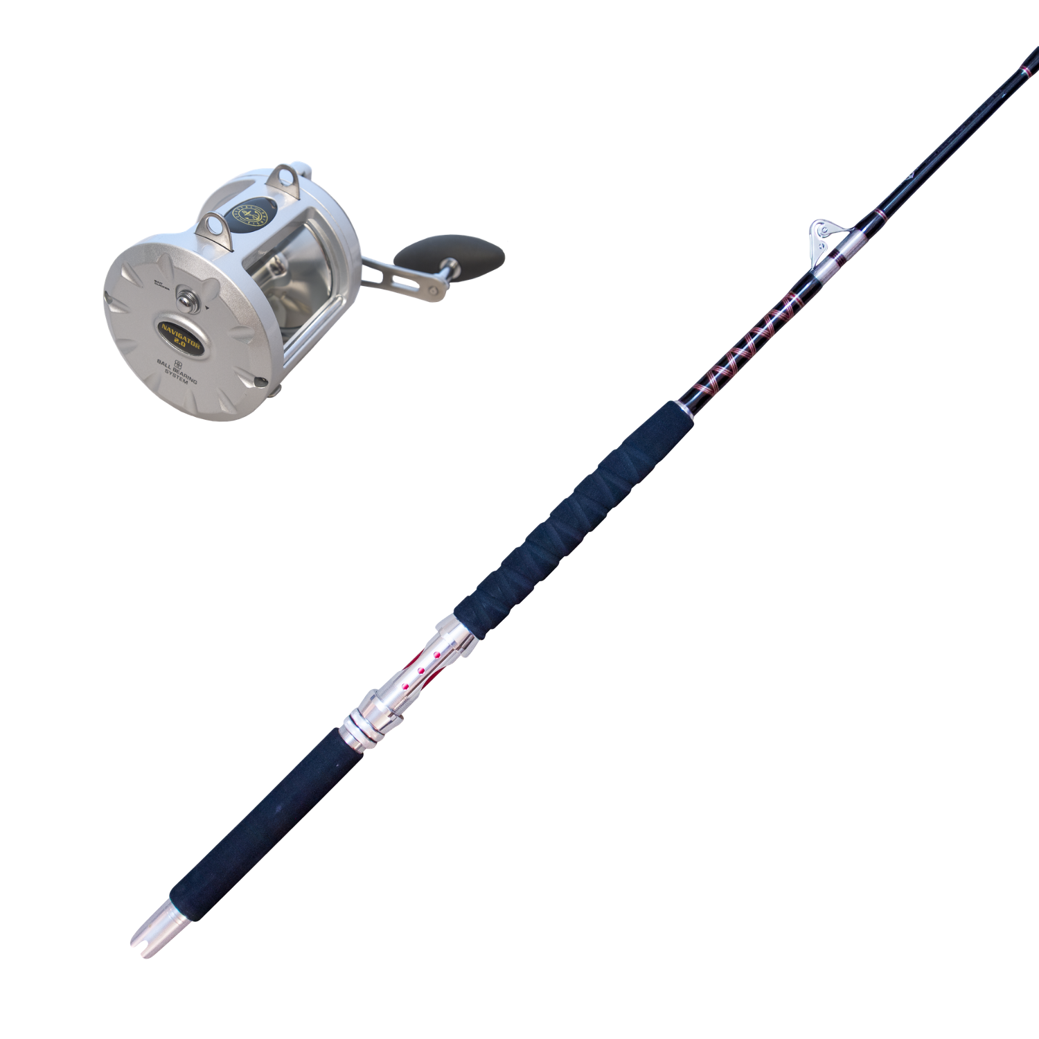 Thon Combo   100 - 120 lb (environ 54.43 kg) HolFaible Roller Rod-Standup & Trolling