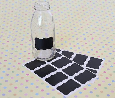 16x Mini Chalkboard Labels Blackboard Stickers Wedding Party Jar Lolly Buffet