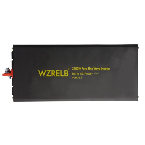 2500W Pure Sine Wave Inverter 12//24//48V to 240V DC to AC Solar Power Inverter