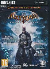 Batman Arkham Asylum GOTY PC Game of the Year Edition for PC Brand New Sealed