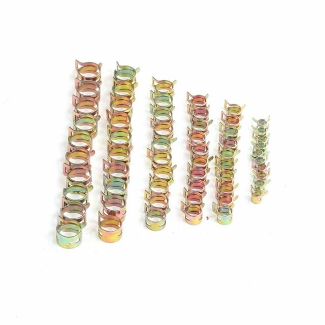 5//6//7//8//9mm Fastener Spring Clip Fuel Water Line Hose Pipe Air Tube Clamps 50Pcs