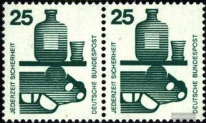 BRD-BR-Deutschland-697A-waagerechtes-Paar-postfrisch-1971-Unfallverhuetung