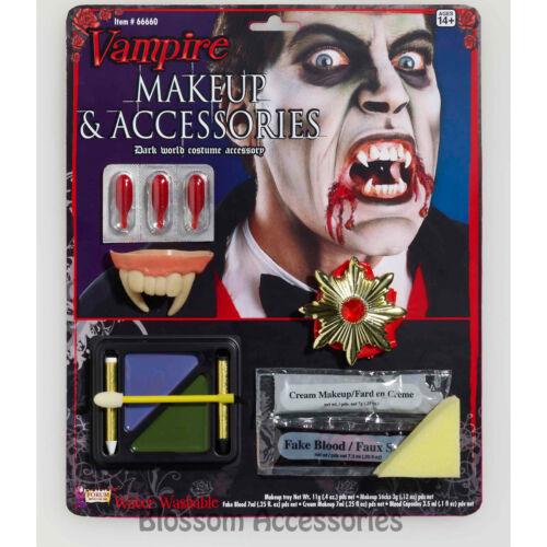 A374 Vampire Make Up Kit Family Scary Halloween Blood Sponge Creepy Skin