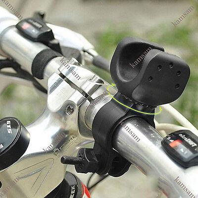 bike bicycle flashlight mount holder clip rotate 360degree head lamp light torch