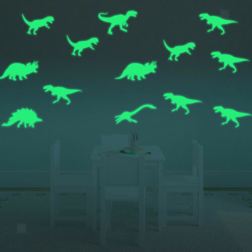 9Pcs Dinosaur Luminous Stickers Glow In The Dark Decal for Kids Room Decor