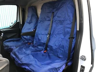 DOUBLE SINGLE FORD TRANSIT - PREMIUM HD BLUE TRIM VAN SEAT COVERS MK6