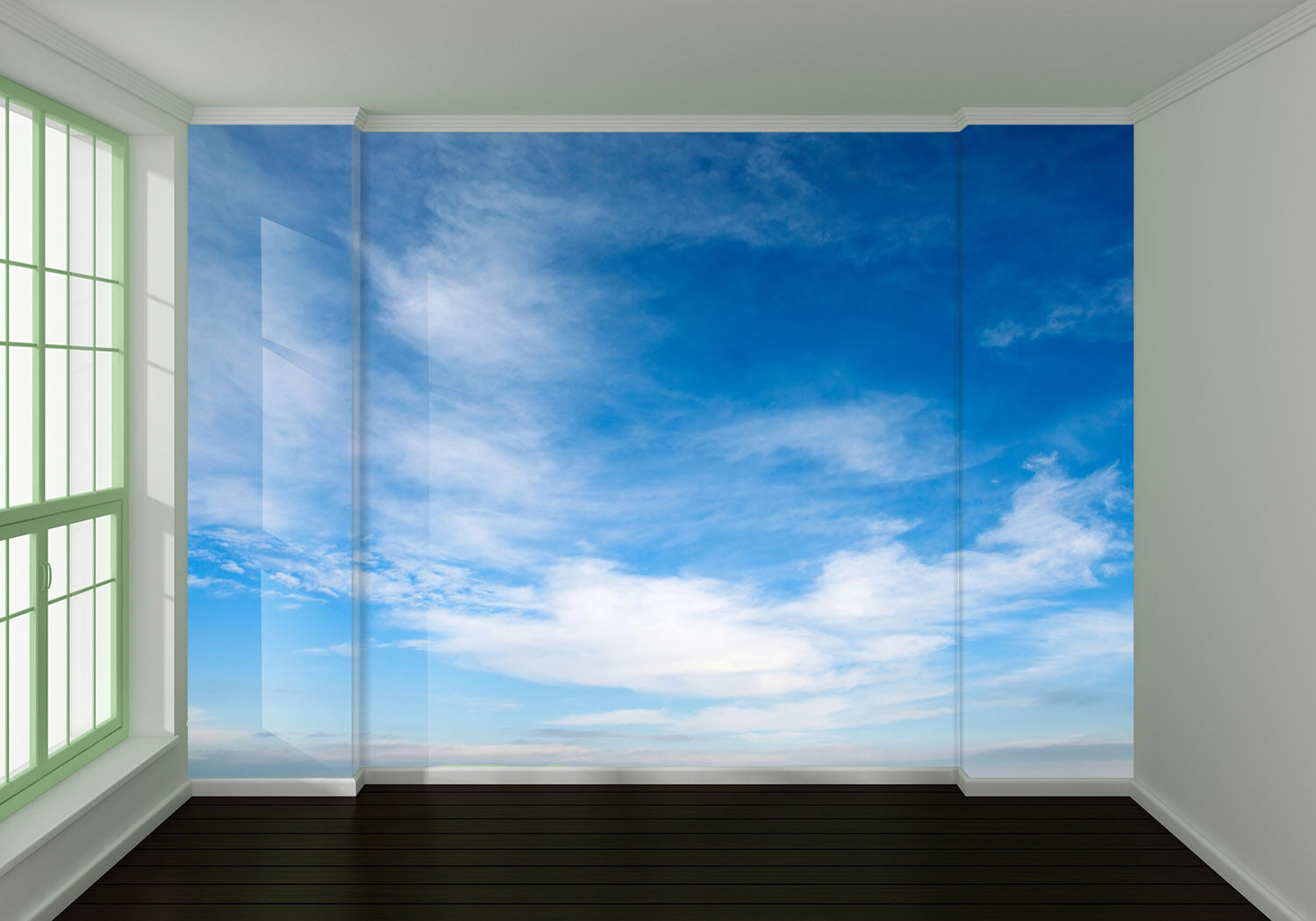 3D Blau Weiß clouds 1 WallPaper Murals Wall Print Decal Wall Deco AJ WALLPAPER