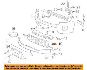 GM OEM Front Bumper-Bumper Cover Brace Right 15193423