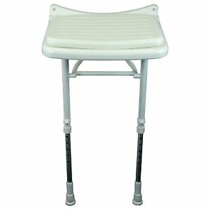 Saracen Padded Seat Wall Mounted Hinged Shower Seat With ...