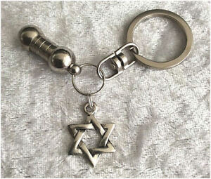 Cremation-Jewellery-Ashes-Urn-Keyring-w-Star-of-David-Funeral-Keepsake-Memorial
