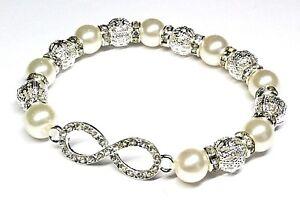 Infinity-Wedding-Bridesmaid-Bracelet-Ladies-Girls-With-Free-Gift-Bag-30-Colours