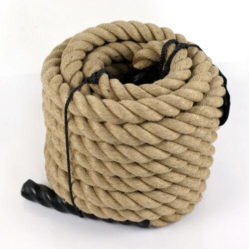 "1-1//2/"" Heavy Duty Manila Rope 50ft Nautical Boat Fitness Exercise Boxing Fence"