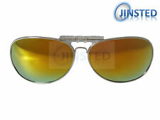 Revo Mirrored Aviator Polarised Polarized Flip Up Clip On Sunglasses ACP014