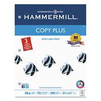 Hammermill Copy Plus Copy Paper 3-hole Punch 92 Brightness 20lb Ltr White 500 on sale