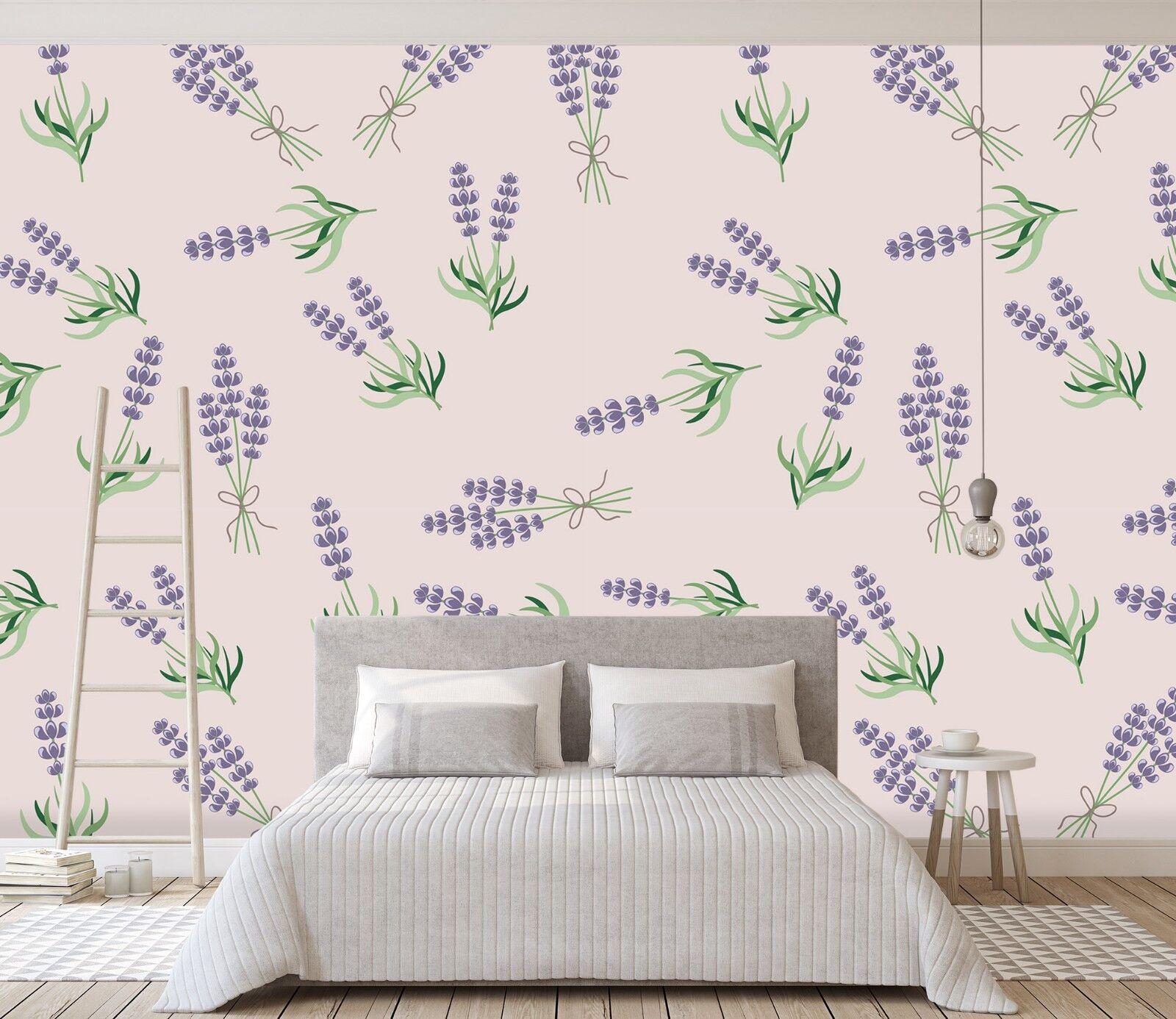3D Lila Blaumen Blaumen Blaumen Gras 810 Tapete Wandgemälde Tapete Tapeten Bild Familie DE Lemon | Attraktiv Und Langlebig  | Verschiedene Stile und Stile  |  60a8d5