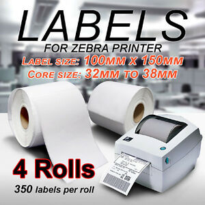 4x-Thermal-Direct-Shipping-Label-Roll-100X150mm-4x6-For-Fastway-Startrack-Zebra