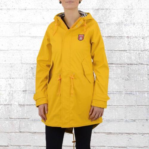 Regen Travel Derbe Regenjacke Gelb Jacke Damen Striped Friese mantel Frauen 70w0Expq