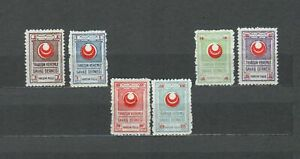 TURKEY-EUROPE-COLLECTION-RED-CRESCENT-UNLISTED-SET-MH-STAMPS-LOT-TUR-67