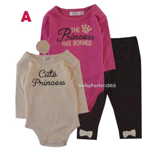 Minimixs Baby Girl 2 pcs long sleeve bodysuit leggings set lot Size 3 6 9 months