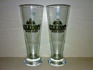 2-Glaeser-Bierglaeser-KILKENNY-0-4-l-Irish-Beer-Golddruck-KULT-LOOK-gt