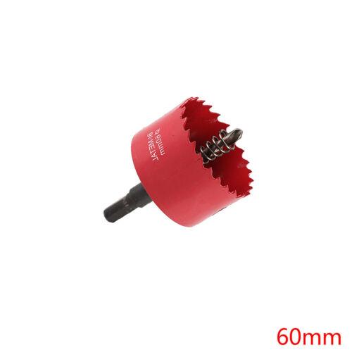 60-100mm M42 Metal Hole Saw Holesaw Cut Arbor Pilot Drill Bit Wood Plastic QU