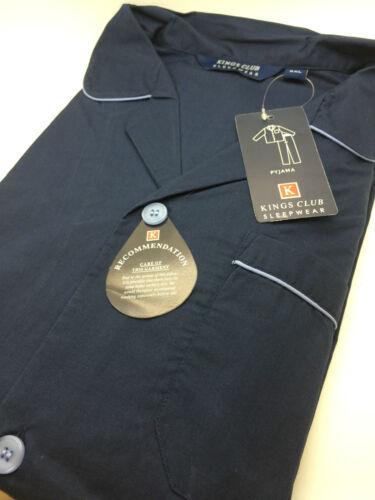 Men/'s Kingsclub Traditional Style KINGSIZE Plain Polycotton Pyjamas 3XL-6XL