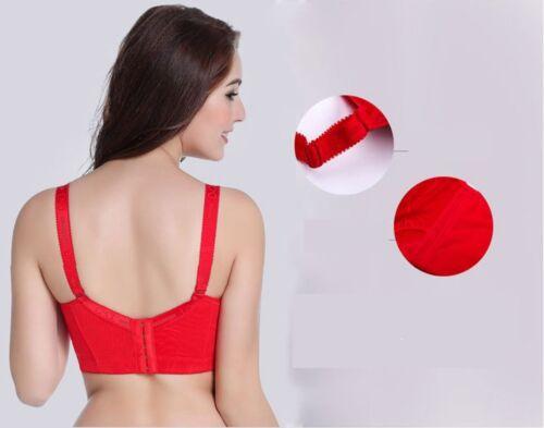 Plus Size Bra C D E  Cup Wide Back Push Up Brassiere for Women lingerie porno FF