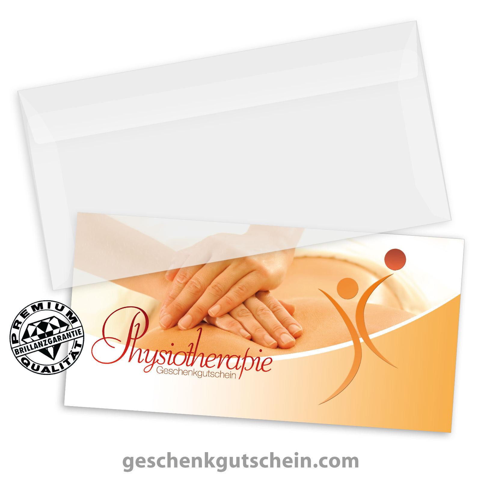 Gutscheinkarten  DINlang  mit KuGrüns für die Physiotherapie MA9242