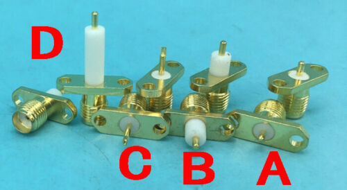 lot Various SMA female 2-hole flange PTFE solder panel Chassis mount connector
