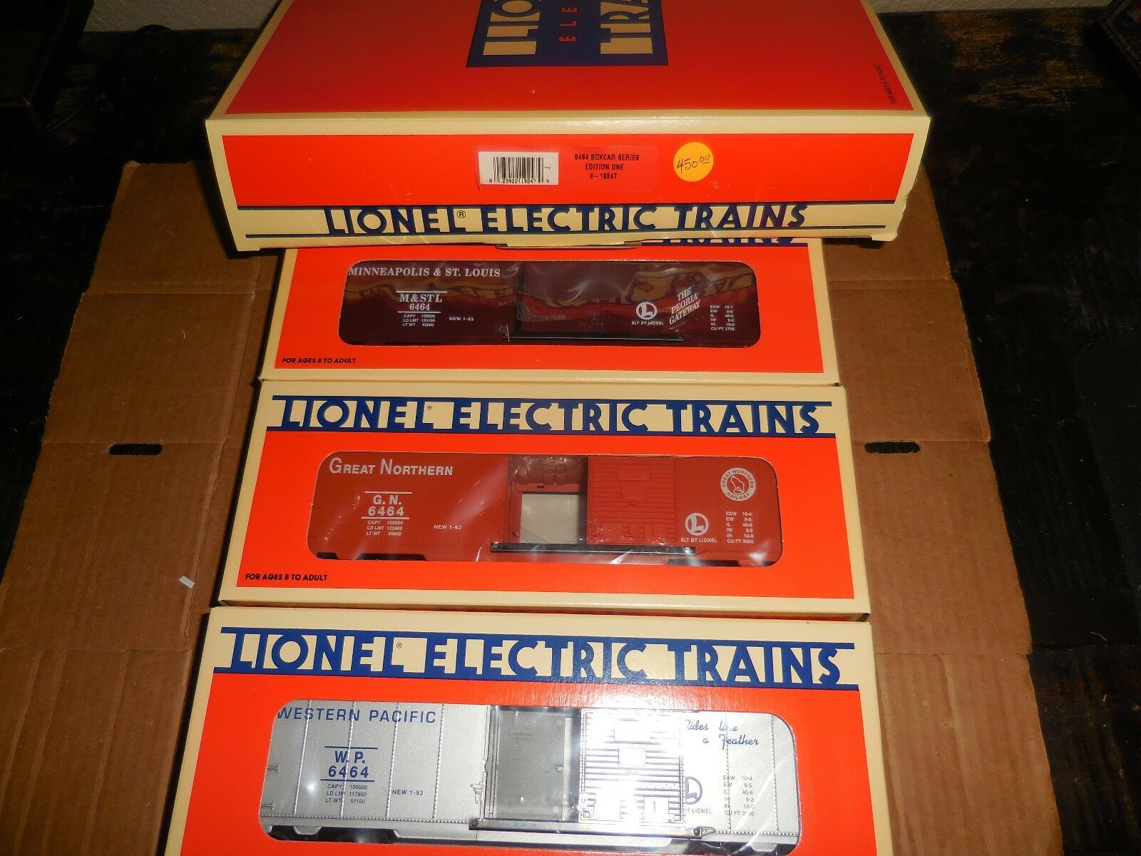 LIONEL  6-19247 BOXCAR SERIES SET ONE