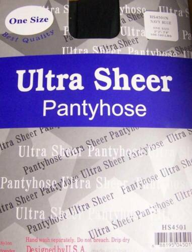 Lot Of 6 Pack--Ultra Sheer Pantyhose  One Size   Queen Size   Stocking Nylon