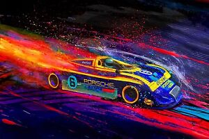 Automotive-Racing-Car-Art-1973-Mark-Donohue-Sunoco-Porsche-917-917-30-V12