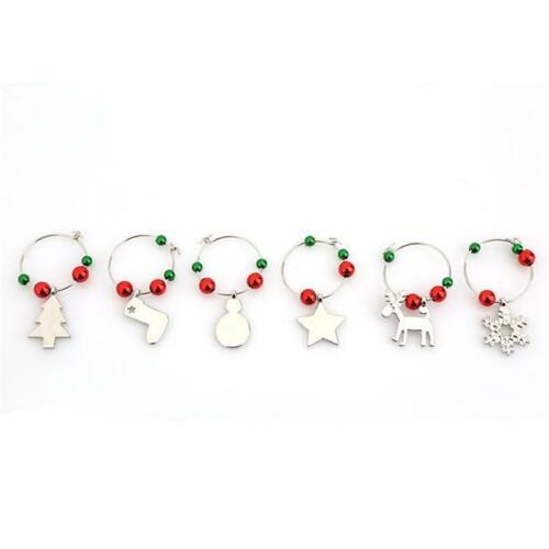 Christmas Wine Glass Charms Novelty Drink Markers Xmas Dinner Table Decor ONE