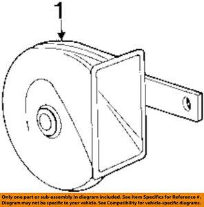 bmw oem 96 99 318ti horn 61337164003 ebay 2000 Nissan 240SX Diagram image is loading bmw oem 96 99 318ti horn 61337164003