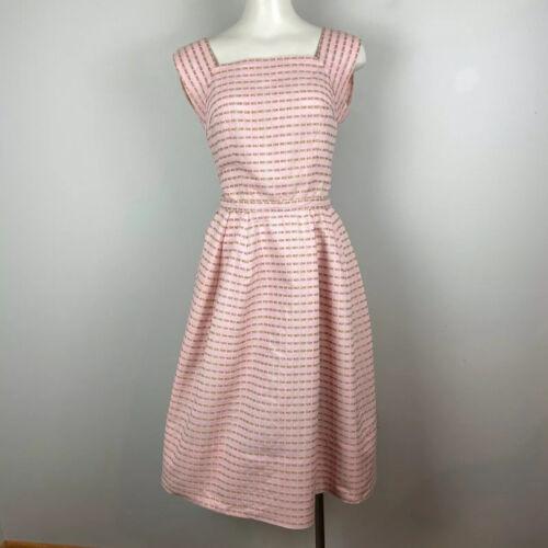 Vintage 1950s Pat Premo Calif Dress Pink Cotton Fl