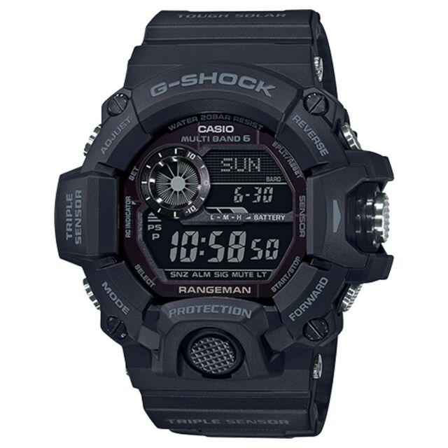 -NEW- Casio Master of G Rangeman G-Shock Black Watch GW9400-1B