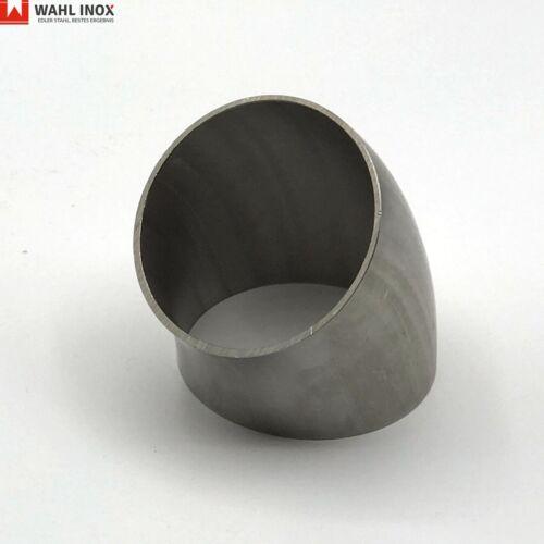 Schweißbogen Krümmer walzblank verschiedene Größen Rohrbogen 45° V4A Edelstahl