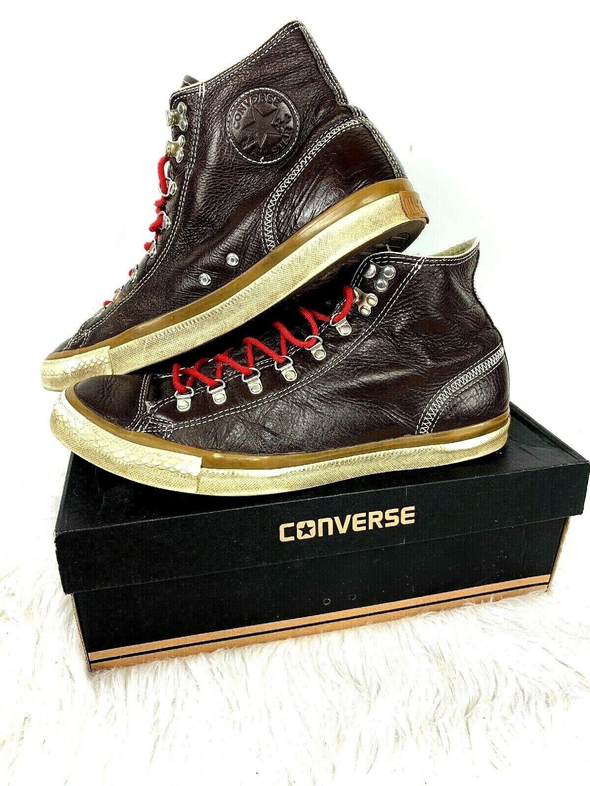 Converse Chuck Taylor Hiker alta Top zapatos talla 13 Cuero Marrón para Hombre en Caja