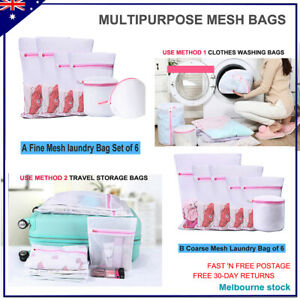 Laundry Bags Home&Travel Essentials Set Of 6 Optional Mesh Clothes Washing Bags