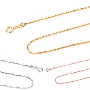 925-plata-esterlina-0-8-mm-Super-delgada-cadena-de-la-caja-italiana-artesanalSE