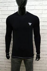 Maglia-Nero-Uomo-GAUDI-Taglia-Size-S-Maglietta-Cotone-Elastico-Shirt-Man-Black