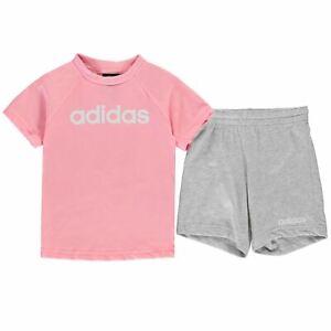 b4dc4552 adidas Kids Girls T Shirt and Shorts Set Infant Clothing Pants ...