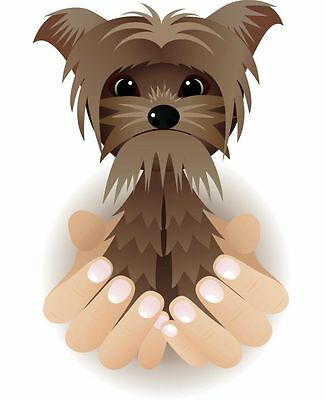 "Yorkie Super Dog 7.5/"" Car Vinyl Sticker Decal yorkshire terrier love pet *E33*"