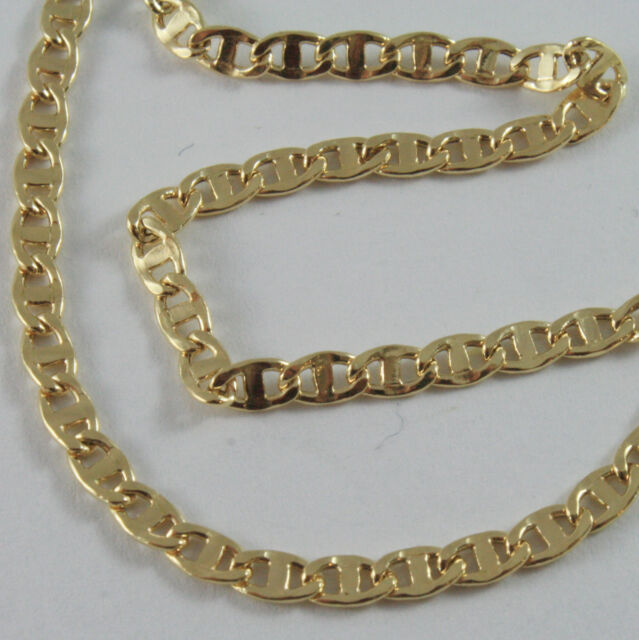 18K GOLD YELLOW CHAIN, SAILORS NAVY MARINE, FINELY WORKED, SHINY, MADE IN ITALY
