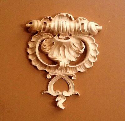 Hand carved Solid Hard Maple Ornamental Corbel  Appliqué