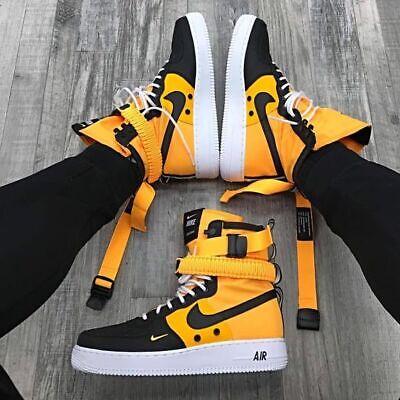 New Nike Sf Af1 Air Force One High 864024 800 Laser Orange Black White Size 10 Ebay