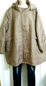Catherines-NWT-170-DEAL-of-the-DAY-Champagne-Hooded-Packable-Coat-Plus-4X
