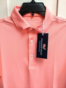 173a45d99ad8f4 Vineyard Vines Mens Size S Pique Performance Polo S/S Shirt Bright ...