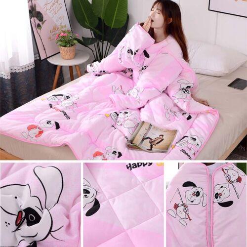 Lazy Quilt Multifunktionsdecke mit Ärmeln Winter Thickened Washed Quilt Decke