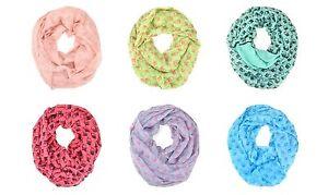 Cute-Owl-Animal-Print-Block-Circle-Loop-Wrap-Infinity-Scarf-Multi-Color-Soft